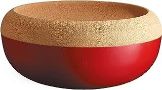 Emile Henry Made in France Burgundy Large Fruit & Vegetable Storage Pantry Bowl, 14.1 inch diameter
