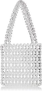 SwankySwans Masie - Mini borsa da sera con perline in acrilico trasparente