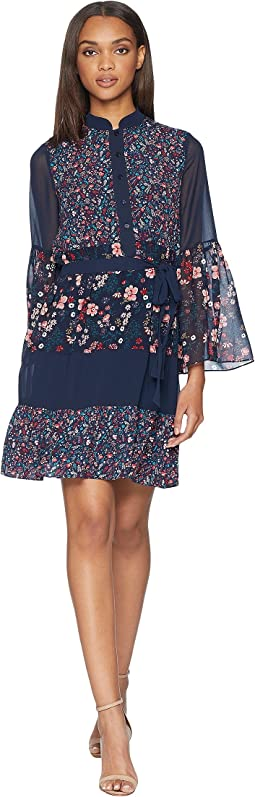 Caprice Floral Mix Flirty Dress