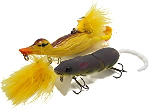 Fishing Soft Artificial Bait Duck Shape 360° Rotary Duck Fins Lure Sharp Hook