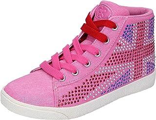 LULU' Sneaker Bambina Tela Rosa