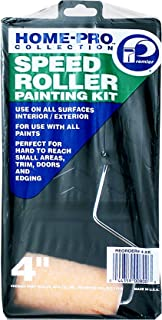 """Premier Paint Roller Premier 4"""" Home-Pro Speed Roller, Frame And Plastic Tray Paint Kit, 3 Piece, 4-Xk"""