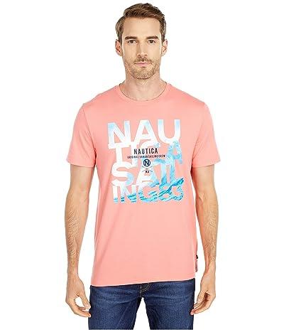 Nautica Graphic Tee (Pale Coral) Men