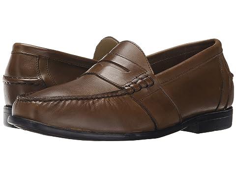 Men's Nunn Bush Kent Moc Toe Penny Loafer Loafers (Saddle Tan) -