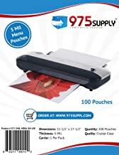 975 Supply 5 Mil Double Letter Laminating Pouches, 11.5 x 17.5 inches, 100 Pouches