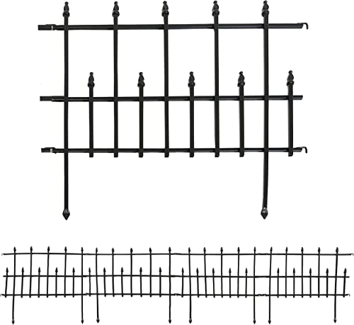 popular Sunnydaze 5-Piece Cambridge Decorative Metal Garden Fence Panel Set - Steel Border Garden and Landscape Fencing - popular 24-Inch Wide x 28-Inch Tall Each - 10-Foot Overall Length - 2021 Black outlet sale