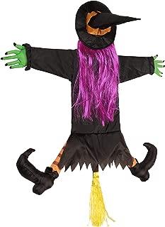 VOGULO Betty Bash Crashing Witch Into Tree Halloween Decoration