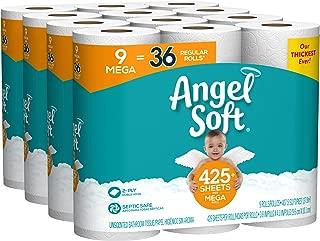 Angel Soft Toilet Paper, 36 Mega Rolls, 36 = 144 Regular Rolls, Bath Tissue, 4 Packs of 9 Rolls