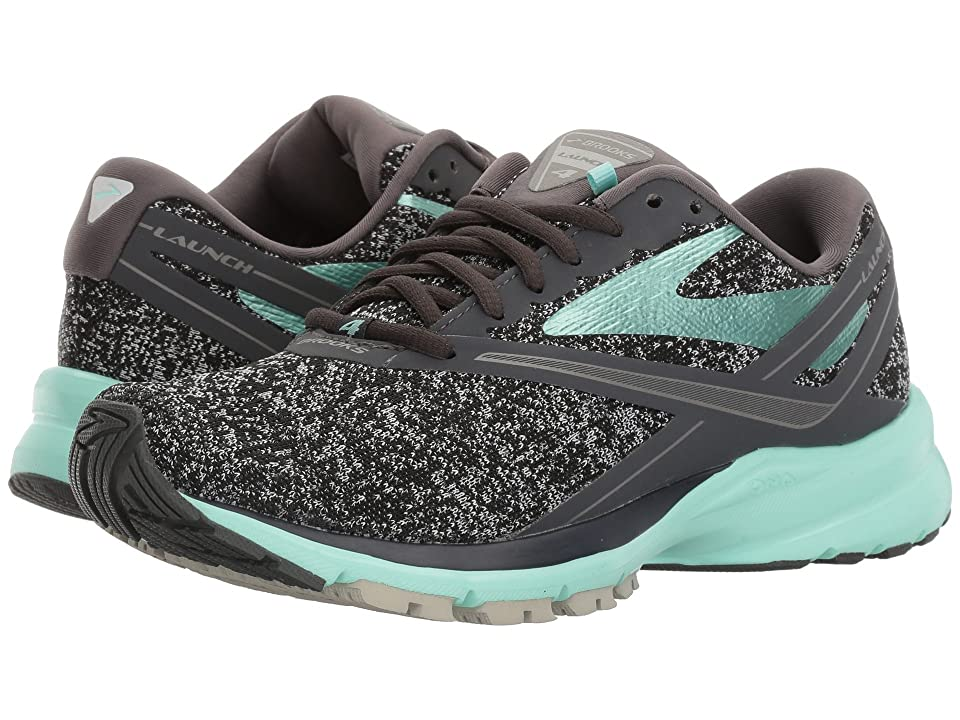 Brooks Launch 4 (Anthracite/Beach Glass/Silver) Women