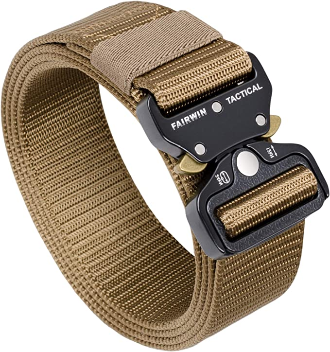 Fairwin Tactical Belt, Military Style Webbing Riggers Web Gun Belt
