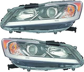 Headlight Headlamp For Honda Accord Sedan Driver Left and Passenger Right Pair Set 2016 2017