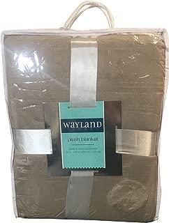 Wayland Square Plush Queen Blanket (Tan)