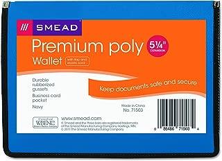 Smead Premium Poly Premium Expanding File Wallet with  Closure, 5-1/4