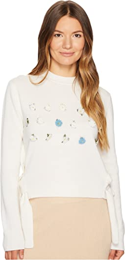 Daisy Oya Embroidered Pullover