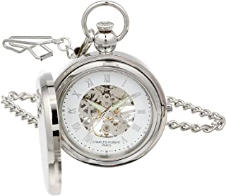 Charles Hubert 3850 Mechanical Picture Frame Pocket Watch