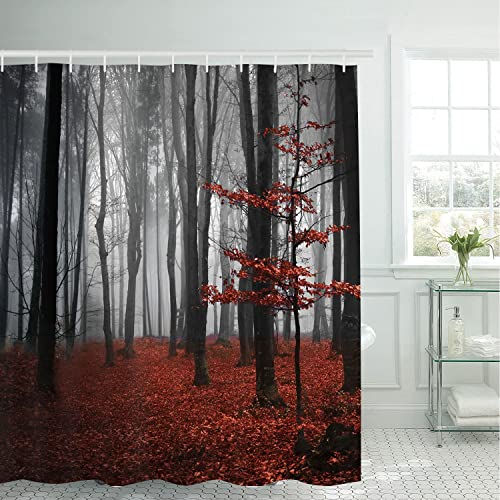 Red Fabric Shower Curtains: Amazon.com