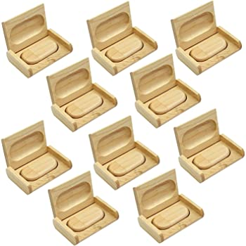 10 Pack Pendrive de Madera Memoria Flash USB 16 GB + 10 Piezas ...