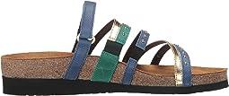 Oily Blue Nubuck/Gold Leather/Oily Emerald Nubuck