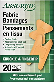 20 Count (1 Box) Knuckle and Fingertip Fabric Bandages