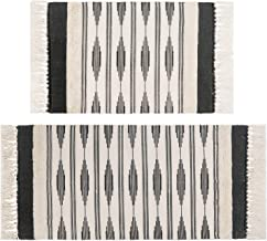 U'Artlines Tufted Cotton Area Rug, Hand Woven Moroccan Floor Rugs with Tassels Machine Washable Perfect for Kitchen Bedroo...