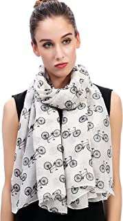 Lina & Lily Vintage Bicycles Bikes Print Women's Large Scarf Lightweight