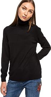 DeFacto Dames Regular Fit lange mouwen, rolkraagpullover voor dames, tricot, gebreide trui voor dames