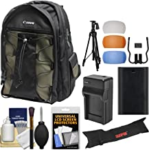 Canon 200EG Deluxe Digital SLR Camera Backpack Case with LP-E6 Battery + Charger + Tripod + Kit EOS 80D, 6D 7D 5D Mark II III IV, 5DS R