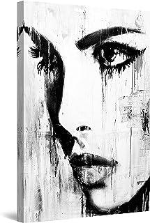 comprar comparacion Startonight Cuadro sobre Lienzo en Blanco y Negro Profundidades Abstractas, Impresion en Calidad Fotografica Enmarcado y L...
