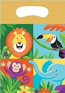 Creative Converting Jungle Safari Favor Bags 8-Pieces