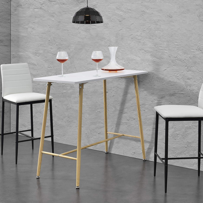 en.casa] Bar Counter 9 x 9 x 9 cm MDF Metal Frame Bar Table ...
