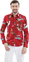 Hawaii Hangover Men's Long Sleeve Fit Hawaiian Shirt Christmas Santa Aloha Shirt