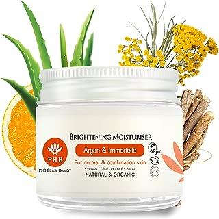 PHB's Brightening Moisturizing Cream. A 100% Natural and Organic Moisturizer 1,7 Fl. Oz