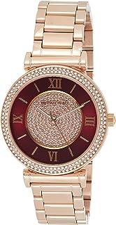 ساعة يد بحركة كوارتز للنساء من مايكل كورس، بعرض انالوج وسوار من الستانلس ستيل موديل MK3377
