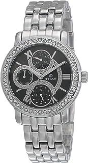 Titan Purple Analog Black Dial Women's Watch -NL9743SM02 / NL9743SM02