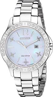 Women's Eco-Drive Japanese-Quartz Watch with Stainless-Steel Strap, Silver (Model: EW2510-50D)