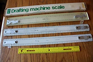 Drafting Tool Lot of W&G WG/ODA18 and Keuffel & Esser Co K+E 1376T-1 scale ruler