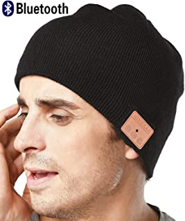 319607ed3cac4d Upgraded Unisex Knit Bluetooth Beanie Hat Headphones V4.2 Unique Valentines  Day Gifts for Him