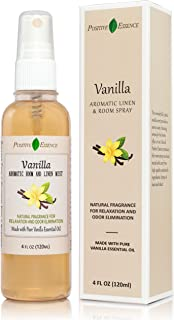 Positive Essence Vanilla Linen and Room Spray, Natural Aromatic Mist Made with Pure Vanilla Essential Oil, Relax Your Body...