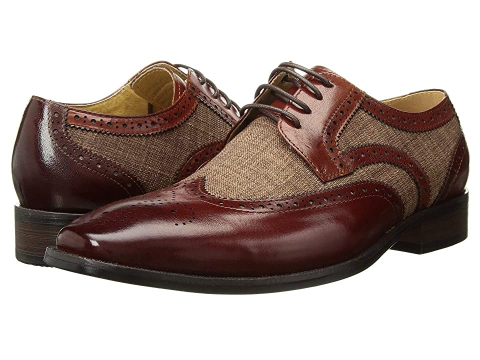 Stacy Adams Kemper Wingtip Oxford (Tan Multi) Men