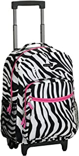 Luggage 17 Inch Rolling Carry-On Backpack, Pink Zebra, One Size