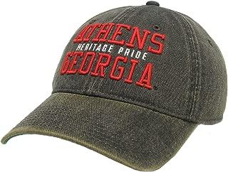 Legacy Athletics Old Favorite Athens, Ga Heritage Pride Trucker Hat, Black/Red