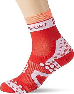 COMPRESSPORT Racing Socks Ultralight Bike Calzino Bici Ultra Leggero Corsa e Allenamento Rosso