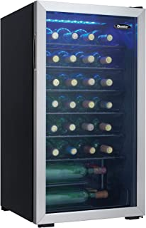 Danby DWC036A1BSSDB-6 3.6 Cu.Ft Cooler, Holds 36 Bottles for Red and White Wine, Sleek Look Perfect for Home Bar with Smok...