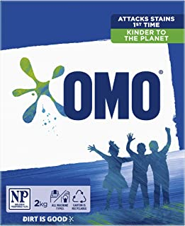 Omo Active Clean Laundry Washing Powder Front and Top Loader 2kg (Packaging May Vary)