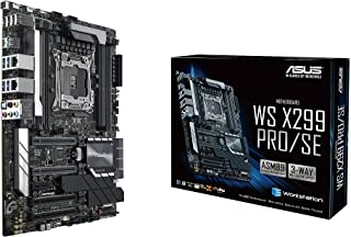 ASUS WS X299 PRO/SE LGA2066 DDR4 M.2 U.2 ATX Motherboard for Intel Core X-Series Processors with SafeSlot