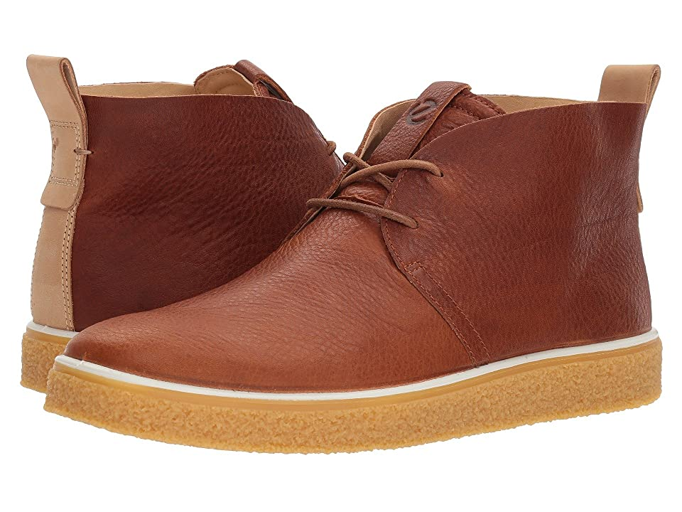 Elevate your summer wardrobe with this must-have Crepetray Chukka from ECCO. Made in their own tanneries  state-of-the-art ECCO leather and vintage-crafted detailing combine to achieve superior comfort and style. Lace-up closure for a secure and comfortable fit. Soft leather lining for all-day wear. Removable leather-covered insole with innovative ECCO Comfort Fibre System helps keep footwear fresh and dry. Innovative ECCO FLUIDFORM Technology ensures a finely tuned balance between cushioning and rebound. The engineered ECCO CREPETRAY outsole is a hollowed out version of the original  for a lightweight take on a workwear boot. Imported. Measurements: Weight: 1 lb 2 oz Shaft: 4 1 4 in Product measurements were taken using size 46 (US Men's 12-12.5)  width M. Please note that measurements may vary by size. Weight of footwear is based on a single item  not a pair.