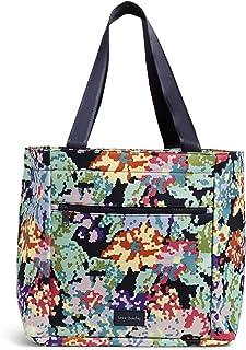 Vera Bradley Recycled Lighten Up Reactive Drawstring Family Tote Bag, Happy Blooms Cross-Sch