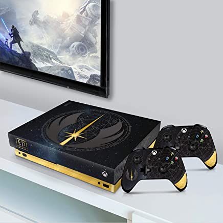 Controller Gear Ontroller Gear Authentic and Officially Licensed Star Wars Jedi: Fallen Order - Jedi Starfield Xbox One X Console & Controller Skin - Xbox One