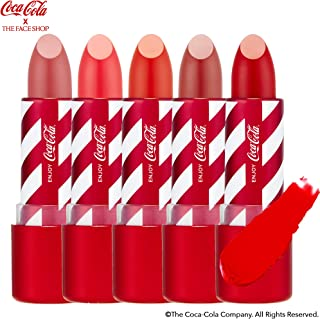 [THEFACESHOP] Lip Stick, [Coca-Cola LIMITED EDITION] Matte Finish Bright Vivid Color - COKE RED (3.5 g / 1.2 oz)