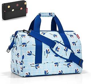 Reisenthel - Bolsa de Viaje con diseño de Lunares Leaves Blue Large
